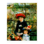 Two Sisters On the Terrace by Renoir Postcard
