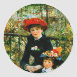 Two Sisters On the Terrace by Renoir Sticker