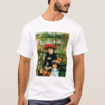 Two Sisters On the Terrace by Renoir T-Shirt