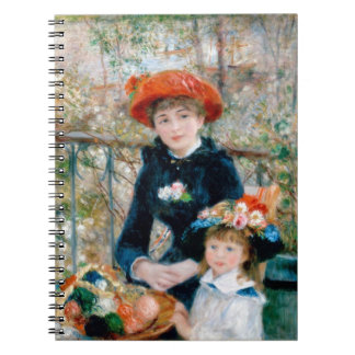 Two Sisters (On the Terrace) Spiral Note Book