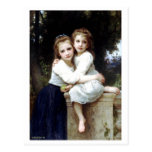 Two sisters painting by William-Adolphe Bouguereau Post Card