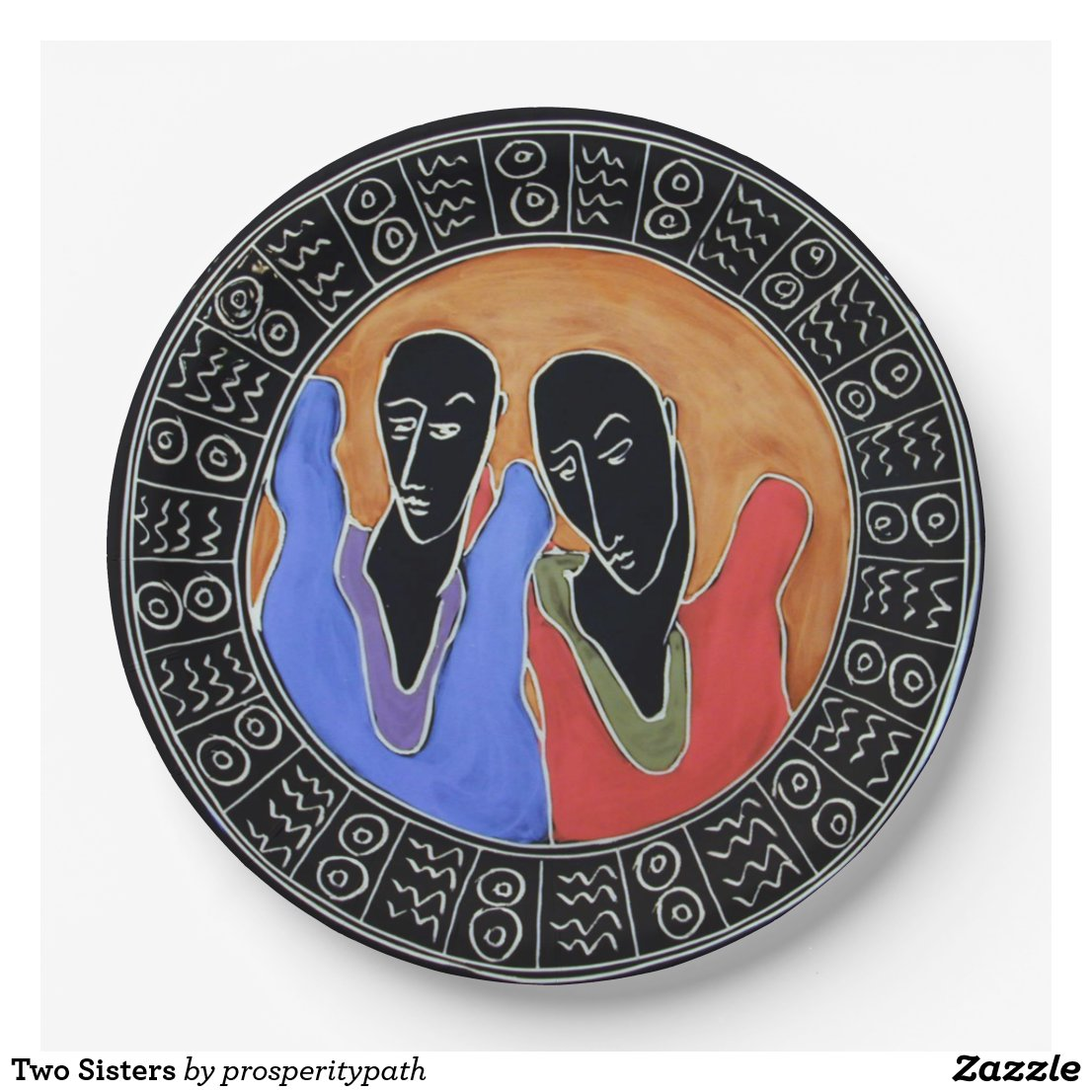 Two Sisters Paper Plate