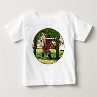 Two Sisters Playing on Swing Baby T-Shirt