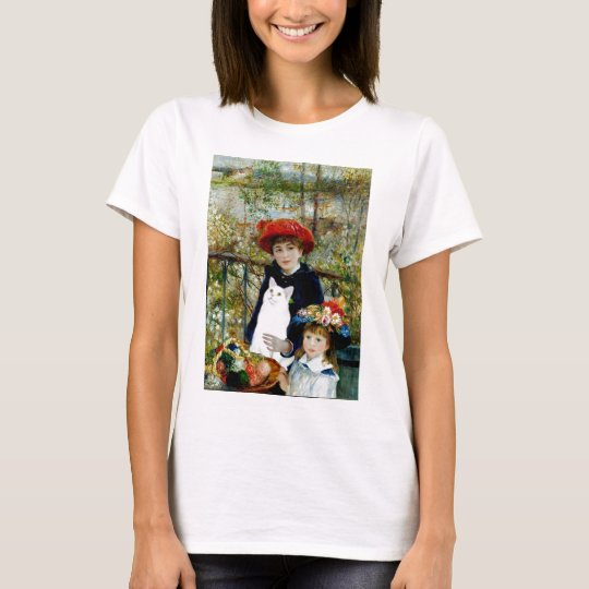 Two Sisters - White short haired cat T-Shirt