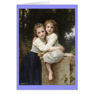 Two Sisters - William-Adolphe Bouguereau Card