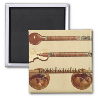 Two sitars and a rudra vina, Indian, from 'Musical Magnet