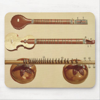 Two sitars and a rudra vina, Indian, from 'Musical Mouse Pad