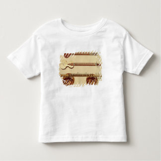 Two sitars and a rudra vina, Indian, from 'Musical Toddler T-shirt