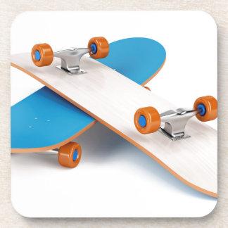 Two skateboards beverage coaster