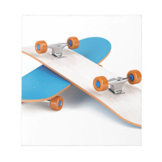Two skateboards notepad