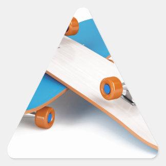 Two skateboards triangle sticker
