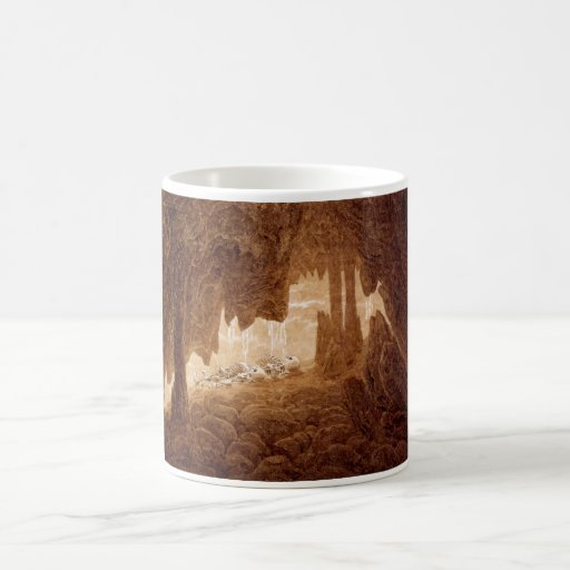 Two Skeletons in a Cave mug