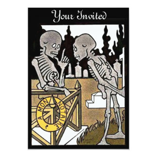 Two Skeletons Invitations