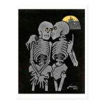 Two Skeletons Talking postcard