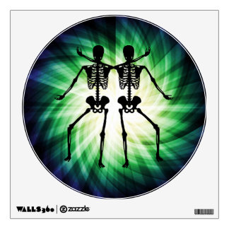 Two Skeletons Wall Sticker
