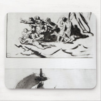 Two sketches for The Raft of the Medusa, c.1819 Mouse Pad