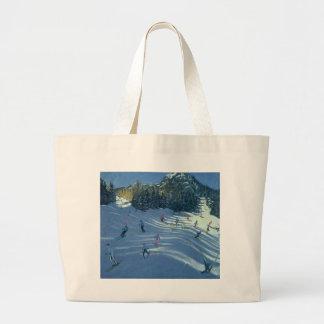 Two Ski-Slopes 2004 Large Tote Bag