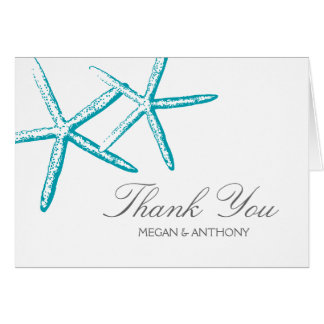 Two Skinny Starfish Thank You Stationery Note Card