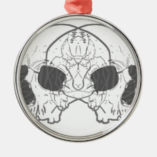 Two Skulls Metal Ornament