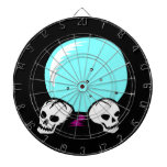 two skulls scrying ball graphic dart boards