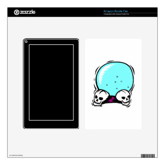 two skulls scrying ball graphic kindle fire decals