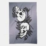 Two Skulls - Tribal American MoJo Kitchen Towels