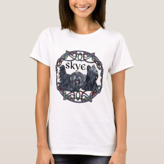 Two Skye Terriers in Celtic Circle T-Shirt