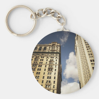 Two Skyscrapers in the Financial District, NYC Basic Round Button Keychain
