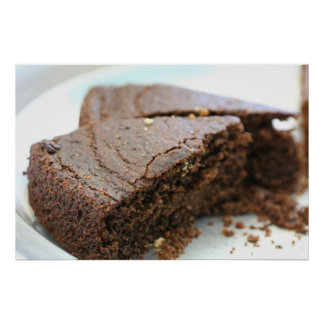 Two slices of chocolate cake Photo Poster