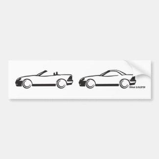 Two SLKs Car Bumper Sticker