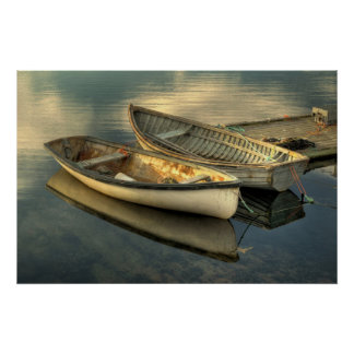 Two small boats in Peggy's Cove - Poster