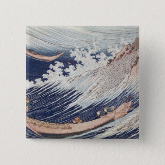 Two Small Fishing Boats on the Sea Pinback Button