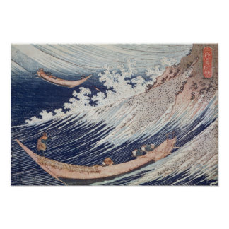 Two Small Fishing Boats on the Sea Posters