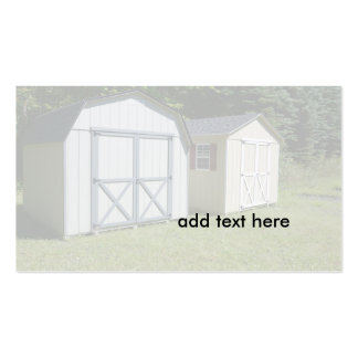 two small garden sheds business card