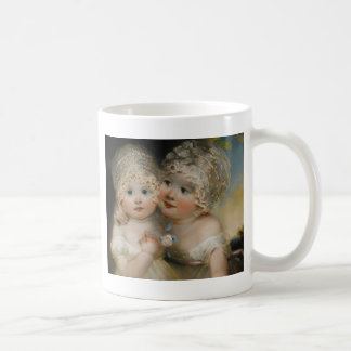 Two small Girls with Bonnets Coffee Mug