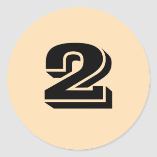 Two Small Round Wheat Number Stickers by Janz