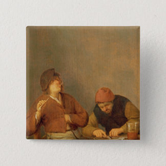 Two Smokers in an Interior, 1643 Button
