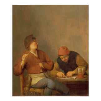 Two Smokers in an Interior, 1643 Poster