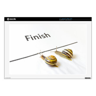 """Two snails sliding to finish decals for 17"""" laptops"""