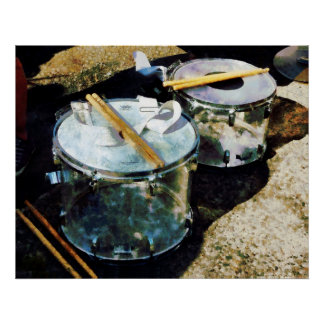 Two Snare Drums Poster