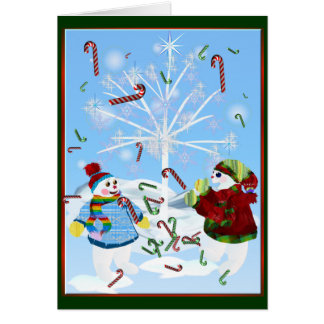 Two Snowmen Card