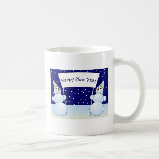 Two snowmen coffee mugs