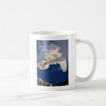Two Snowy Owls in Flight Coffee Mug