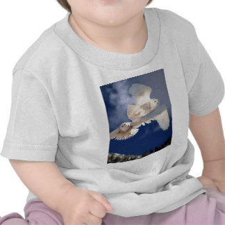 Two Snowy Owls in Flight T Shirts