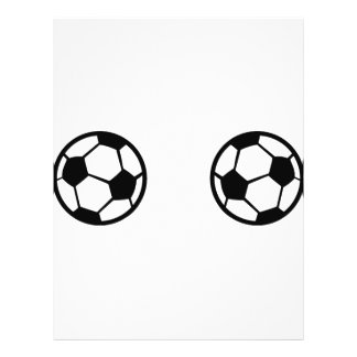two soccer balls icon flyer