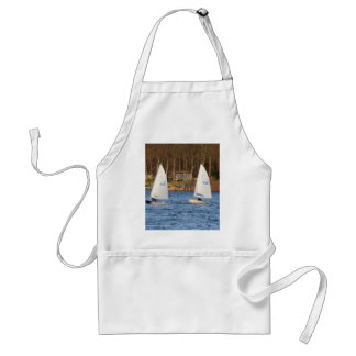 Two Solo Sailing Dinghies Adult Apron