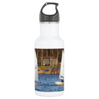Two Solo Sailing Dinghies 18oz Water Bottle