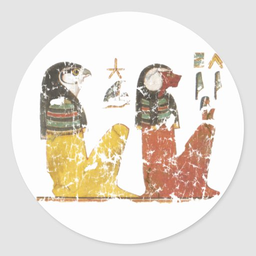 Two Sons of Horus Classic Round Sticker