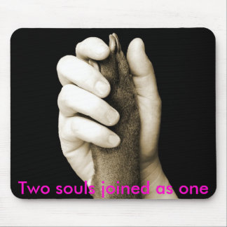 Two souls joined as one mouse mats