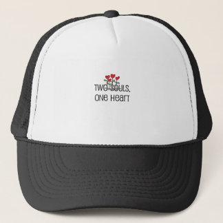 """""""Two Souls, One Heart"""" design Trucker Hat"""